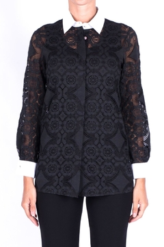 Max Mara Black Lace Shirt - Product List Image