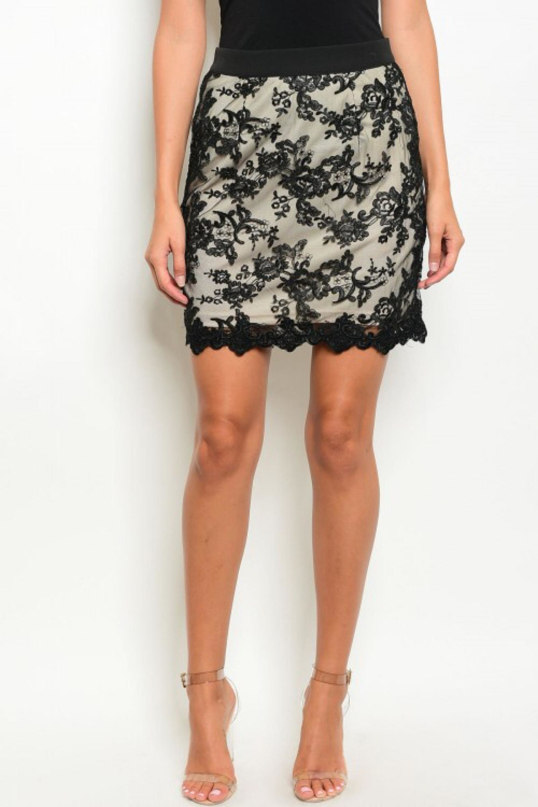 People Outfitter Black Lace Skirt - Front Full Image