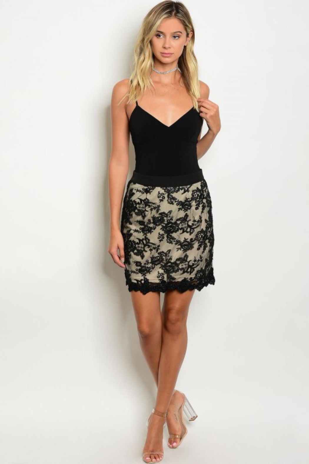 People Outfitter Black Lace Skirt - Main Image
