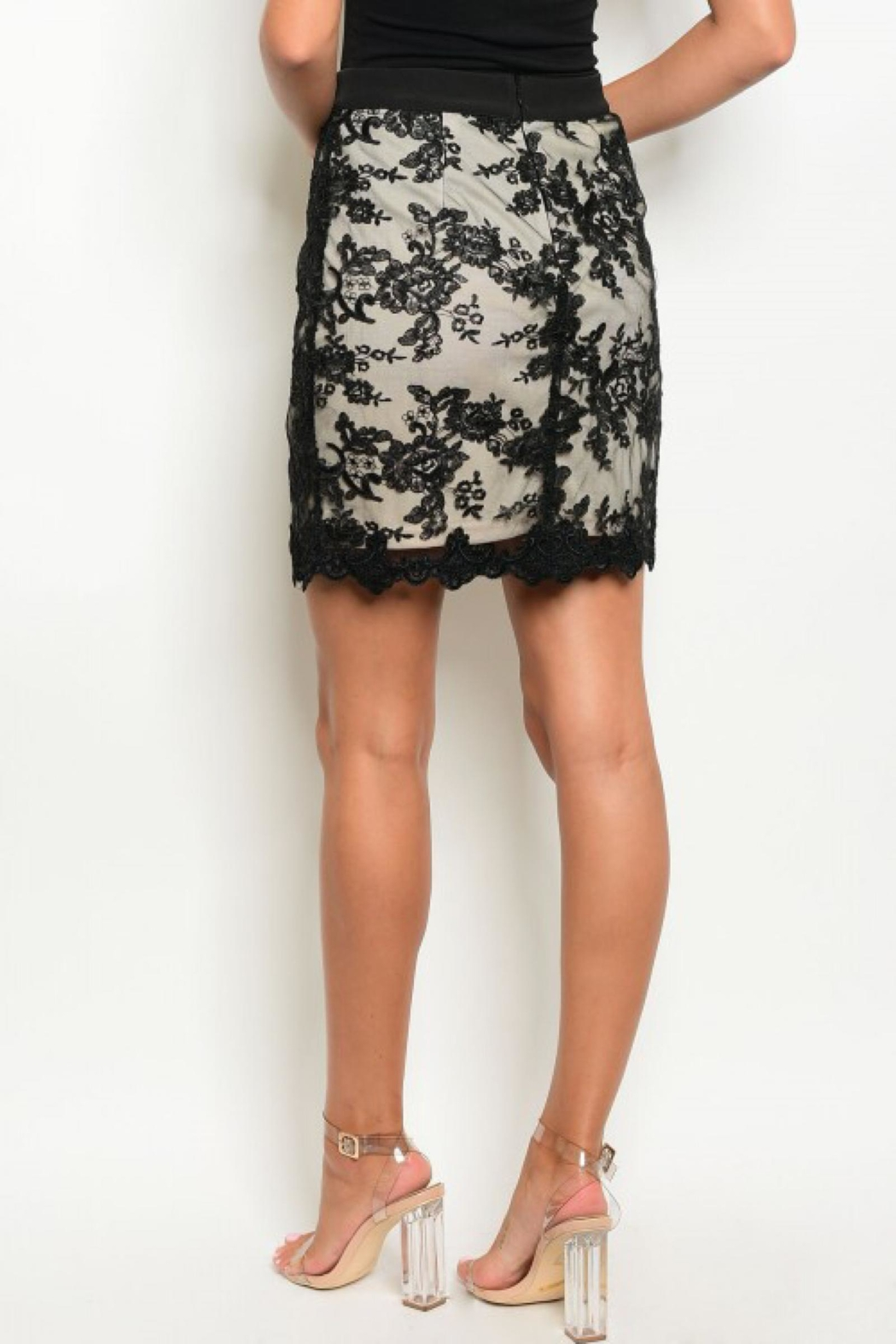 People Outfitter Black Lace Skirt - Side Cropped Image
