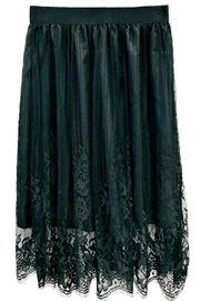 ANTONELLO SERIO Black Lace Skirt - Front cropped