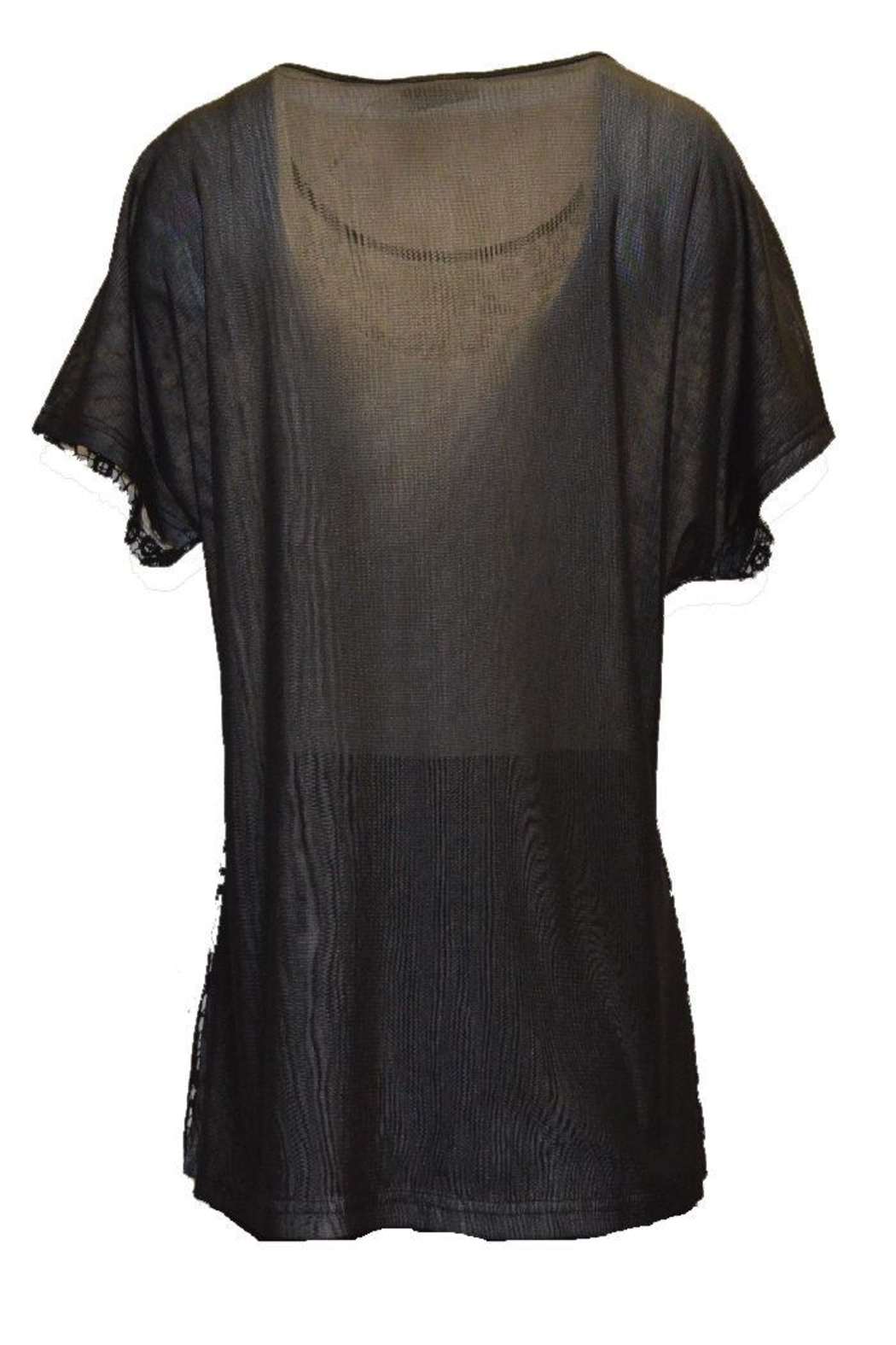 Beta's choice Black Lace Top - Front Full Image