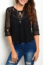 Ark & Co. Black Lace Top - Front cropped