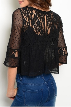 Ark & Co. Black Lace Top - Alternate List Image