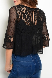 Ark & Co. Black Lace Top - Front full body