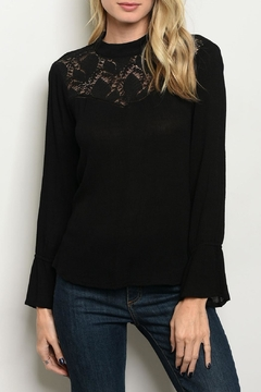 Roly Poly Black Lace Top - Product List Image