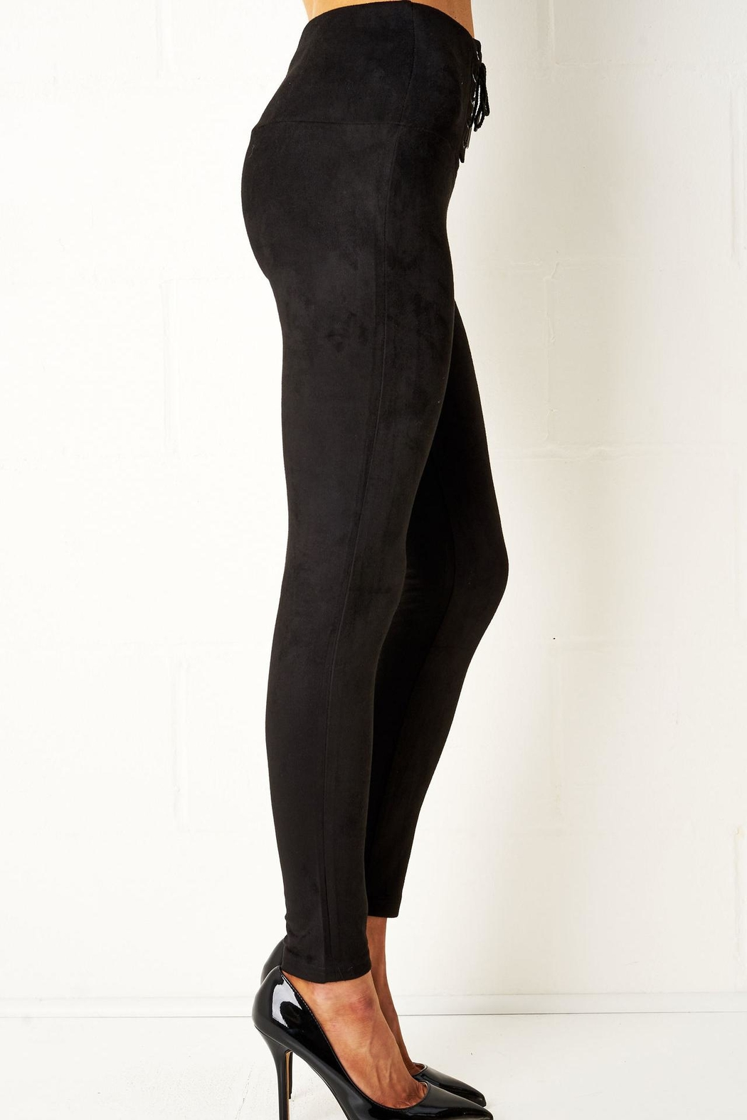 a4e09174c2dd55 frontrow Black Lace-Up Leggings from Essex by Frontrow — Shoptiques