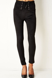 frontrow Black Lace-Up Leggings - Product Mini Image