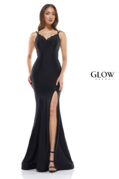 glow by colors Black Lacey Gown - Product List Image