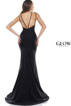 glow by colors Black Lacey Gown - Alternate List Image