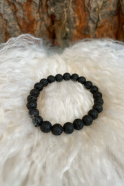 The Birch Tree Black Lava Bead Bracelet - Product Mini Image