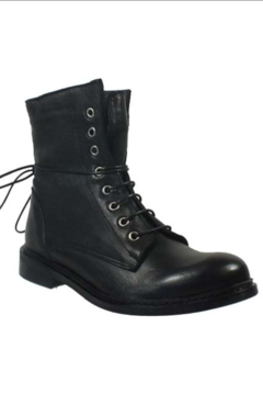 Shoptiques Product: Black Leather Angel 16 Combat Boot - Women