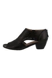 Spring Footwear Black Leather Bootie - Product Mini Image