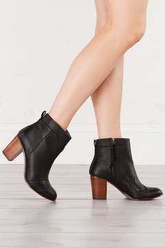 TOMS Black Leather Bootie - Alternate List Image