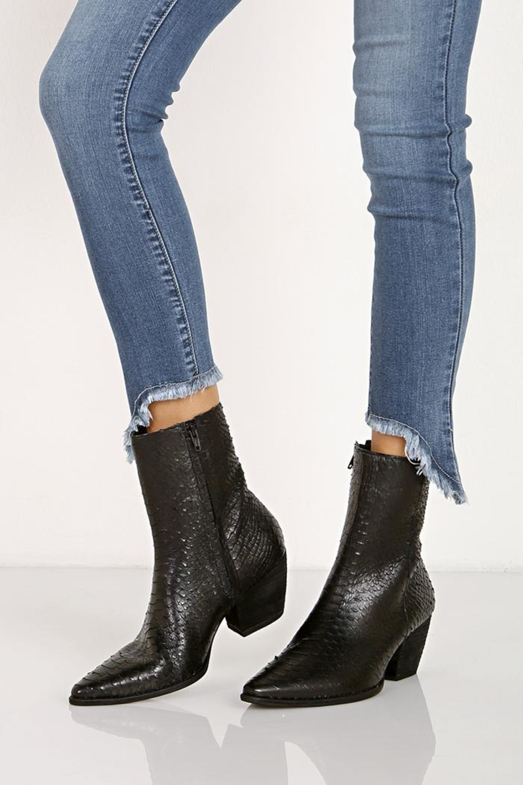 7213c4f1d7f5 Matisse Black Leather Bootie from Indiana by Flirt Boutique ...