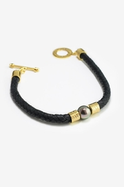 Eduardo Sanchez Black Leather Bracelet - Product Mini Image