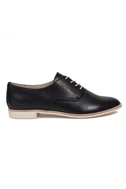 Dolce Vita Black Leather Flats - Front full body