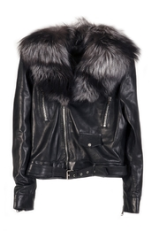Antoinette Dema Black Leather Jacket - Product Mini Image