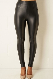 frontrow Black Leather-Look Leggings - Product Mini Image