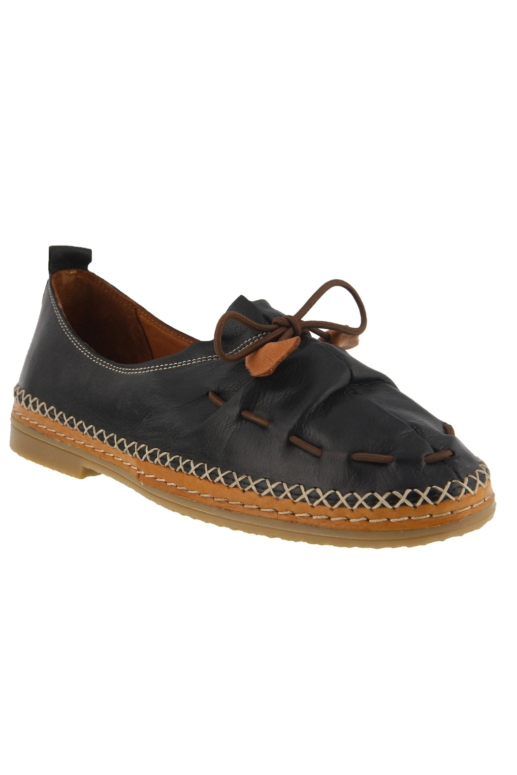 Spring Footwear Leather Moccasin - Front Cropped Image