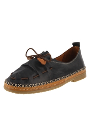 Spring Footwear Black Leather Moccasin - Product Mini Image