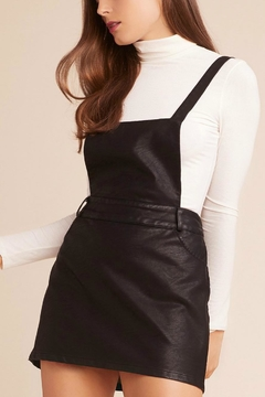 BB Dakota Black Leather Pinafore - Product List Image
