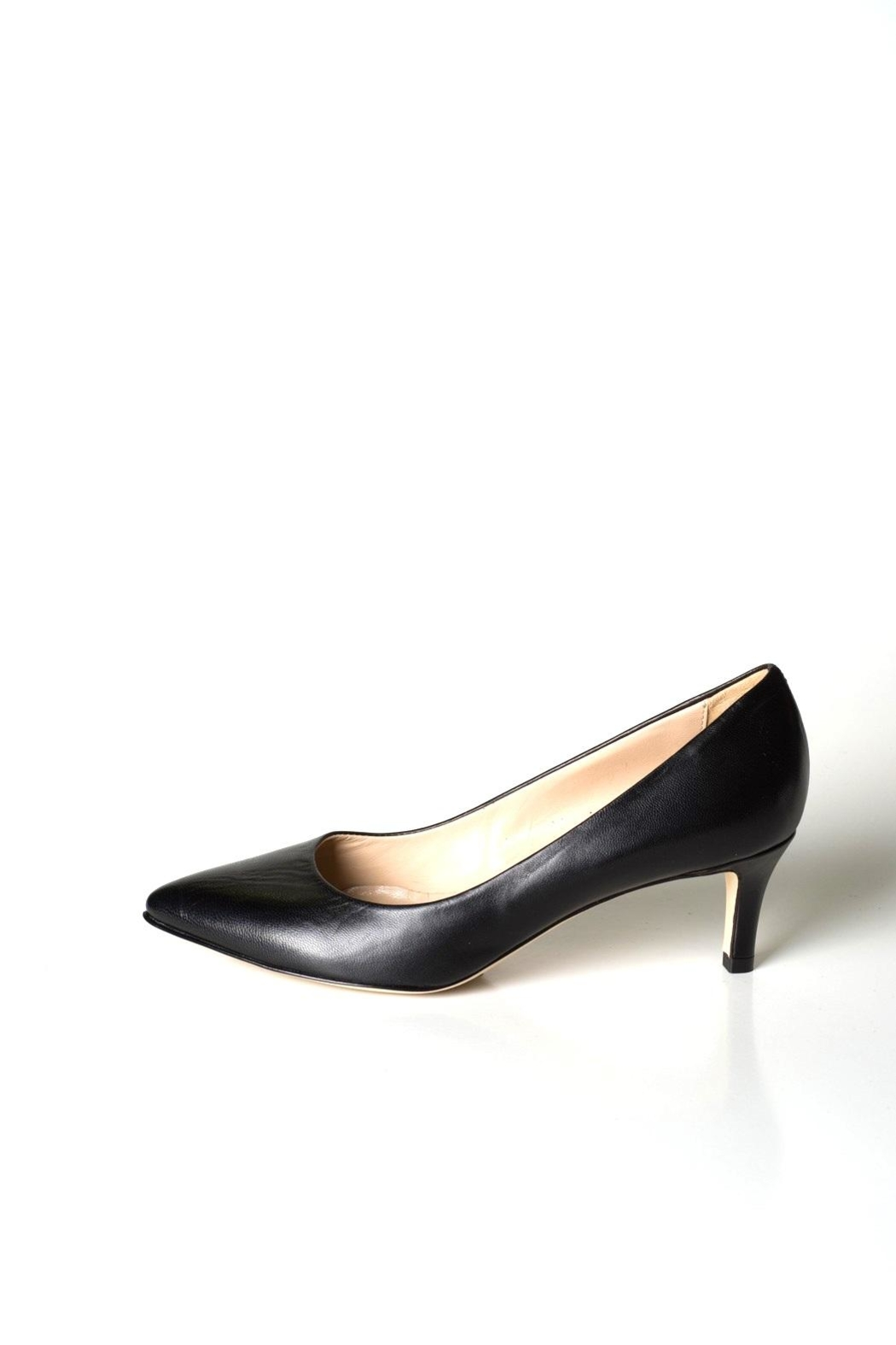 Lady Doc Black Leather Pumps - Front Cropped Image