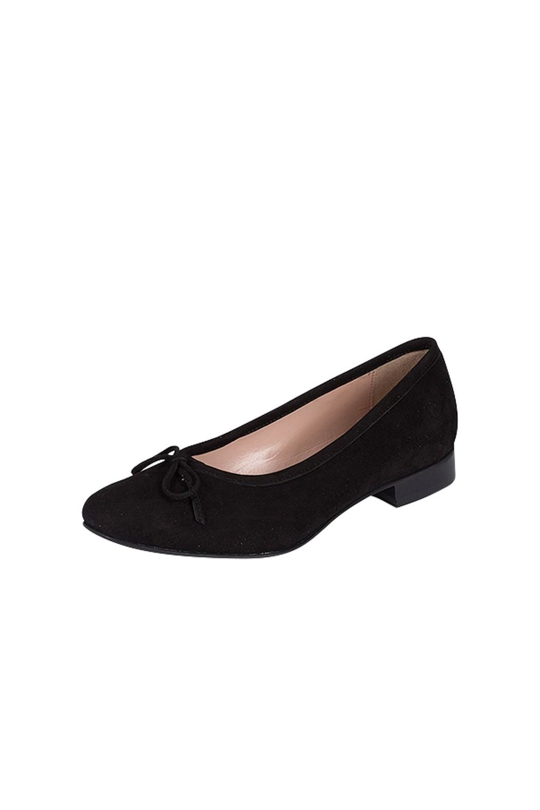 Pascucci Black Leather-Suede Ballerinas - Front Full Image