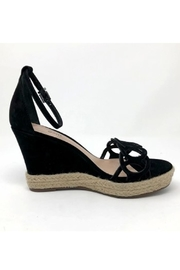 Schutz Black Leather Wedges - Side cropped