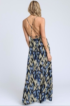 E2 Clothing Black Leaves Maxi - Alternate List Image