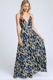 E2 Clothing Black Leaves Maxi - Product Mini Image