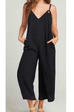Shoptiques Product: Black Linen Jumpsuit