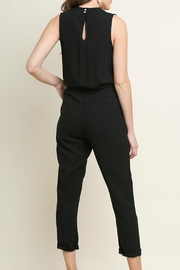 Umgee USA Black Linen Jumpsuit - Front full body