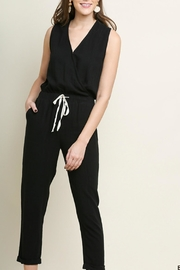 Umgee USA Black Linen Jumpsuit - Product Mini Image