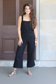 On The Road Black Linen Jumpsuit - Other