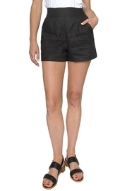 Whimsy and Row Black Linen Shorts - Product Mini Image
