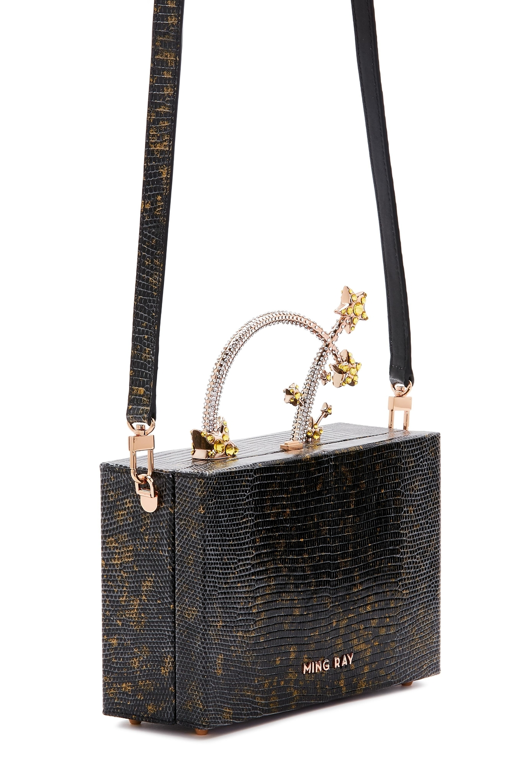 Ming Ray Black Lizard Clutch - Back Cropped Image
