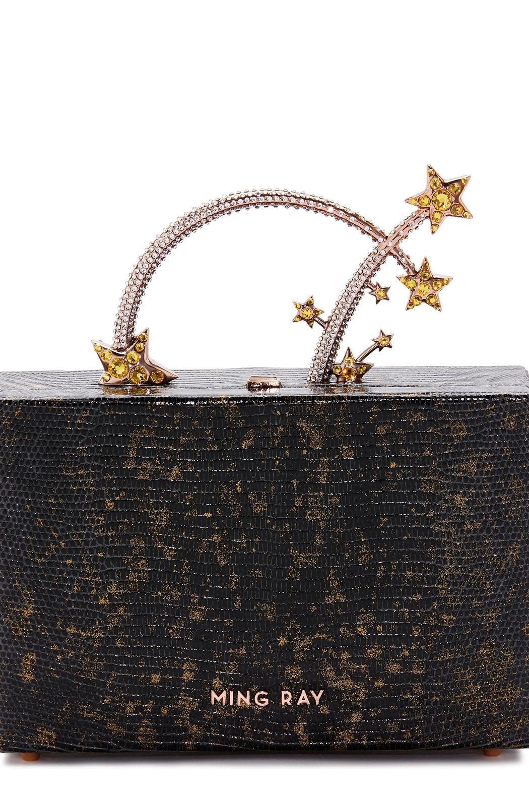 Ming Ray Black Lizard Clutch - Front Cropped Image