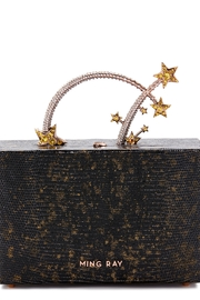 Ming Ray Black Lizard Clutch - Front cropped
