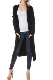 Love Tree Black Long Cardigan - Product Mini Image