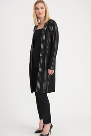Joseph Ribkoff  Black long cardigan with silver grommet detail - Product Mini Image