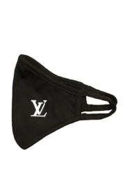 Bedford Basket Black Louis Vuitton Inspired Face Mask - Product Mini Image