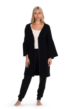 Paper Label Black Lounge Cardigan - Alternate List Image