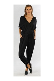Lovestitch Black Lounge Jumpsuit - Front cropped