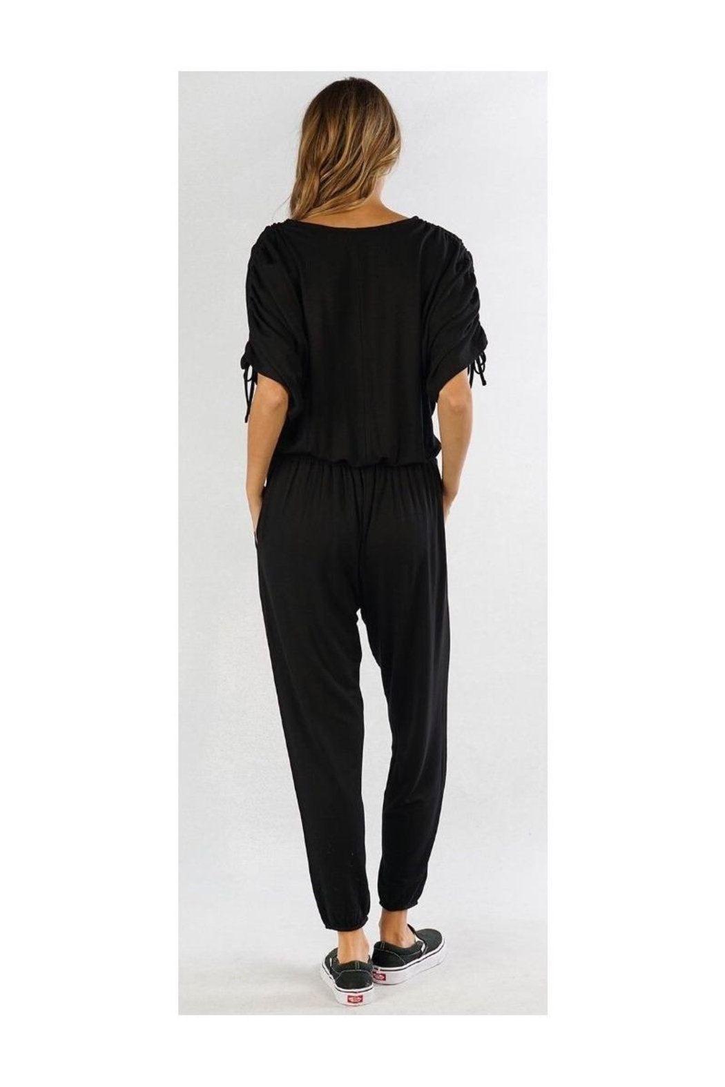 Lovestitch Black Lounge Jumpsuit - Side Cropped Image