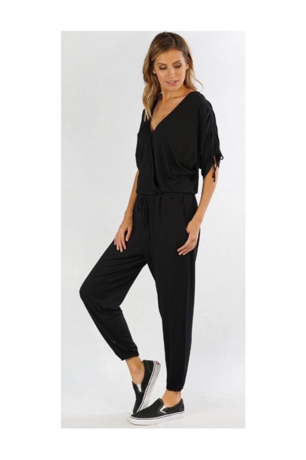 Lovestitch Black Lounge Jumpsuit - Front Full Image