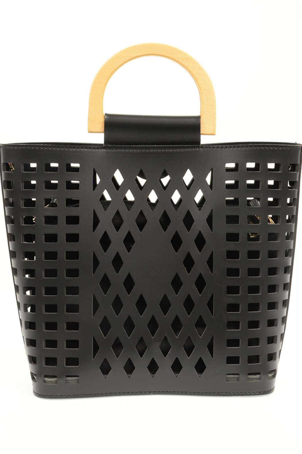 Joy Susan  Black Madison Cut Out Tote - Front Full Image