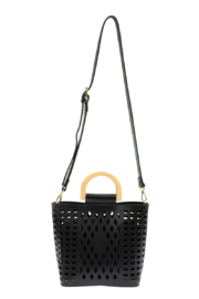 Joy Susan  Black Madison Cut Out Tote - Other