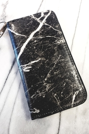 Hello 3am Black Marble Wallet - Front cropped