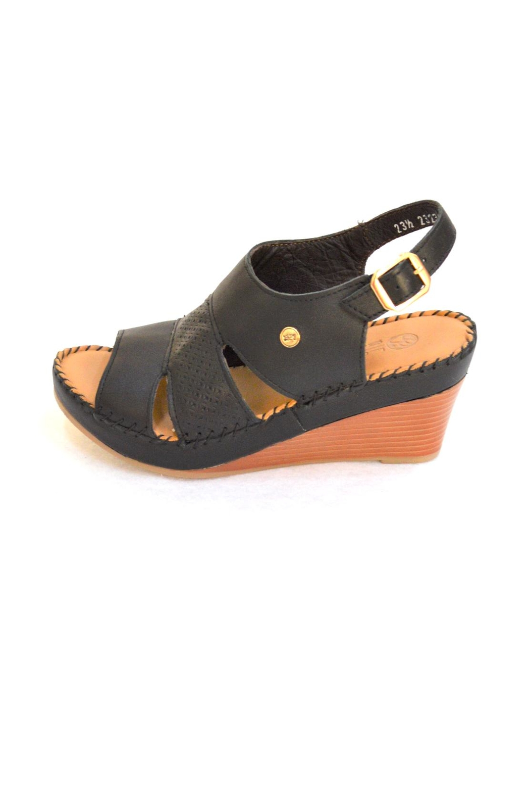 Lobo Solo Black Mariela Wedge - Back Cropped Image